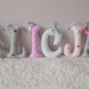 pokoik dziecka mięciutka literka z bawełny, literka, literki, na imię, bawełna