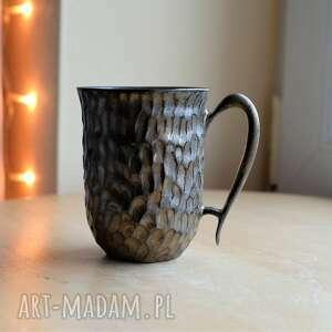kubek ceramiczny rustykalne złoto 300 ml, kubek, ceramiczny