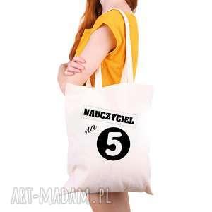 hand-made torba eko na zakupy dla nauczyciela nauczyciel 5 - dzień