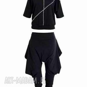 sportowe rock me baby-komplet, bluza, spodnie, komplet, dresowy, czarnobiały, luźny