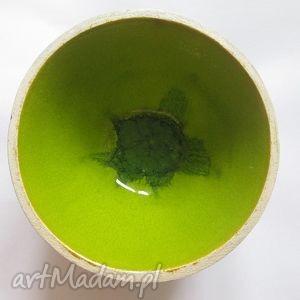 ceramika limonkowa miseczka, zielona, wiosenna, prezent dom