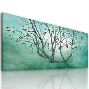 elegancki obraz z motywem drzewa wydrukowanym na płótnie wiosenne drzewo duży format