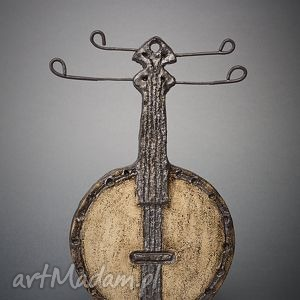 ceramika ceramiczne banjo, dekoracja, ceramika, handmade, unikatowa, metal, wnętrze
