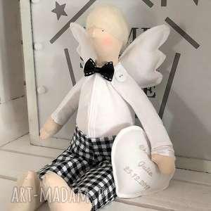 Anioł tilda pamiątka chrztu świętego lalki fabryqaprzytulanek
