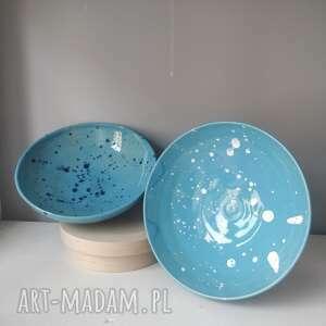 zestaw dwóch miseczek ceramicznych, miska na orzechy, ceramiczna, miseczka