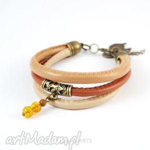 liliarts bransoletka - wiewiórka rzemienie, antyczny brąz