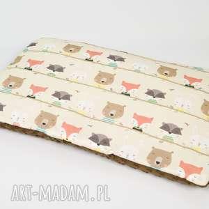 Płaska poduszka minky - zwierzaki 40x60 cm, poduszka,