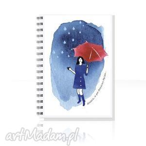po deszczu TĘCZA... notes A5, notes, zeszyt, skoroszyt, ilustracja