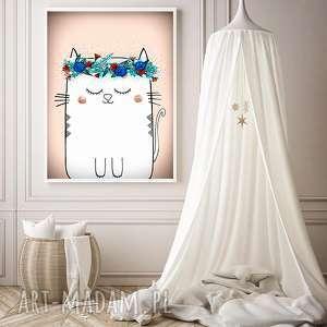 kotek a3 - kot, kotek, koty, kocie, obrazezk, ilustracja