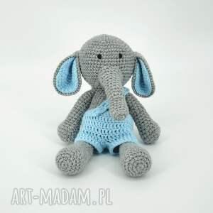 słoń szydełkowy, szydełko, przytulanka, słonik maskotka, słoń