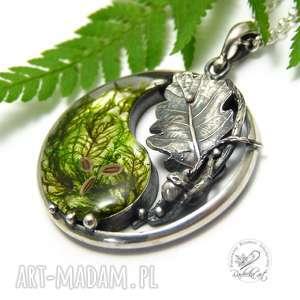 radecka art yin yang - dębowy liść, yang, zen, natura, srebro