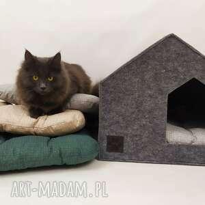 zwierzaki nowoczesny domek budka legowisko dla kota, psa z filcu