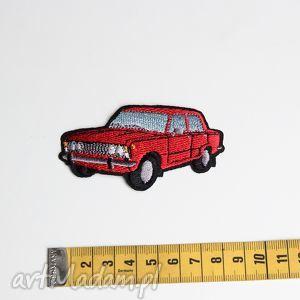 Naszywka samochód Fiat 125p Aplikacja, naszywka, aplikacja, samochód, czerwony, haft