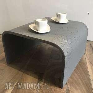 betonowy stolik kawowy slim, kawowy, z betonu