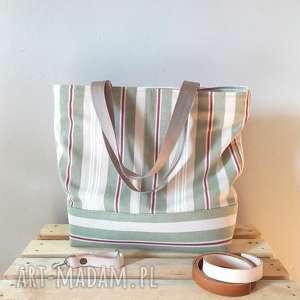 torba pasy, torba, prezent, bawełniana, paski, shopperka