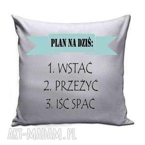 poduszki poduszka - plan na dziś, plan, prezent, poduszka, śpioch, leń