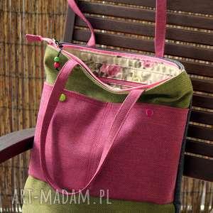 na ramię torba ramię, torebka, shopper, róże, prezent, koraliki, codzienna