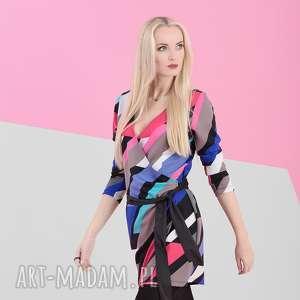 nun mi sukienka kolorowa // busta multicolor, mulitkolor, sukienka, kopertowa, wiosna