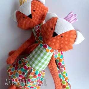 ręczne wykonanie maskotki para królisków dla pani ani