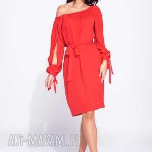 sukienki piękna sukienka wizytowa z wiązaniem w talii