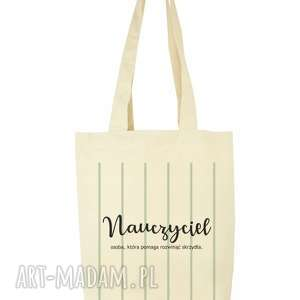 handmade torba eko na zakupy dla nauczyciela nauczyciel - dzień