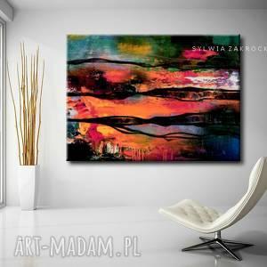 kolorowa awangarda obrazy do salonu nowoczesnego, awangarda, obraz