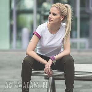 ręcznie wykonane koszulki t-shirt - koszulka pink sleeves, rozmiar