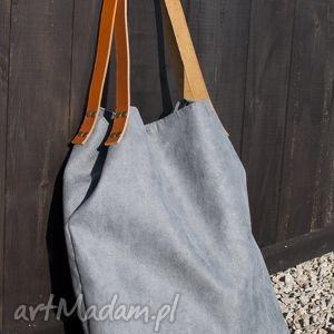 handmade na ramię torba tote xxl - ciemnoszara