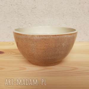 oryginalny prezent, gliniakimacieja miska beżowa, miska, misa, ceramika, glina
