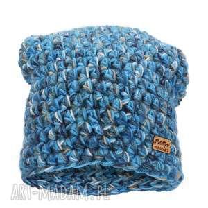 czapka hand made no. 046 beanie szydło, czapka wełniana, ręcznie zrobiona