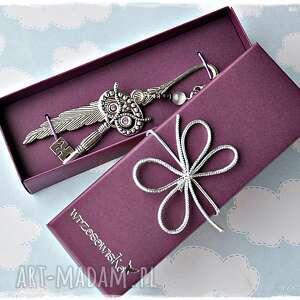 zakładki elegancka zakładka - sowa klucznik, zakładka, sowa, klucz, prezent