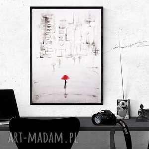 grafika 70x100 cm wykonana ręcznie, plakat, abstrakcja, elegancki minimalizm