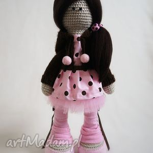 Szydełkowa lalka Jasmine - ,lalka,dekoracja,prezent,