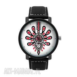 zegarek męski z grafiką parzenica, góralski, ludowy, lokalny, folklor, prezent