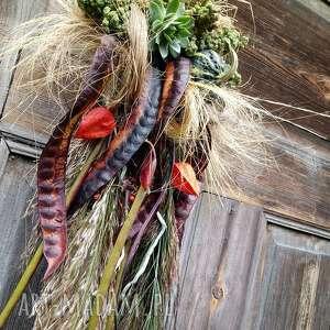 wianek na drzwi, wianek, dynia, gladiczję, jesienny, miechunka dekoracje