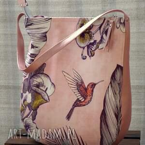 na ramię torba - koliber, torba, wiosna lato, prezent, polski produkt
