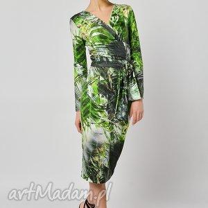 dżungla - kopertowa bluzka, kopertowa, jersey bluzki