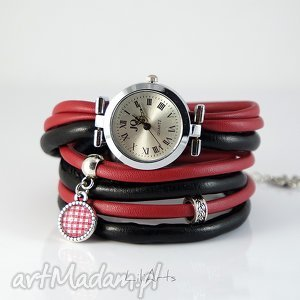 Prezent Zegarek, bransoletka - Kratki owijany, rzemienie, zegarek,