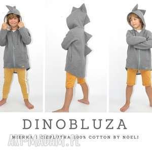 Lniany kdinobluza bluza dinozaur, dino,