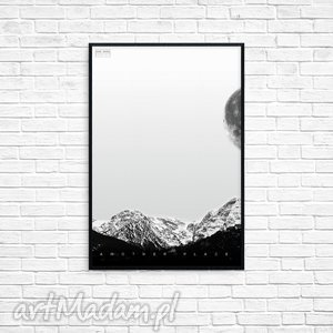 grafika another place r, grafika, obraz, góry, prezent, ramka, minimalizm