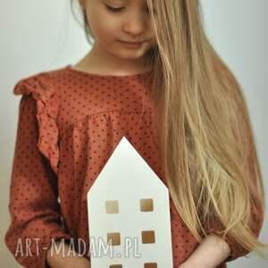 pokoik dziecka duży pojemnik na kredki / lampion domek biały lub naturalny