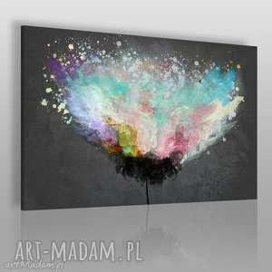 obraz na płótnie - artystyczne drzewo - 120x80 cm 54001 - abstrakcja, nowoczesny