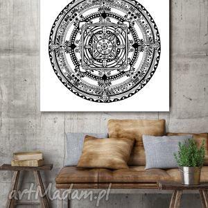 Mandala 50x50cm, plakat, mandala, rysunek, dom