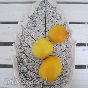 Patera liść, dekoracyjna, patera, roślinna, talerz, ceramiczny, roślinny