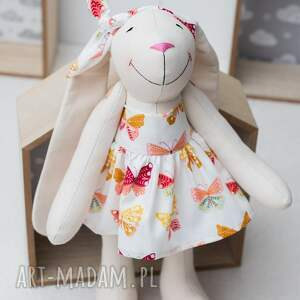 ręcznie zrobione prezent królik personalizowany urodziny święta