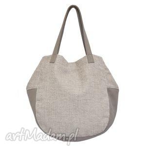 ręcznie wykonane na ramię 24-0014 kremowa torebka damska worek / torba na studia swallow