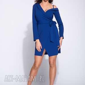 Sukienka wieczorowa mini na jednym ramiączku, wieczorowa, wizytowa, elegancka