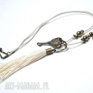klucz z chwostem vol 2 03-11-17 -naszyjnik - klucz, cyrkonie, chwost, boho, swarovski