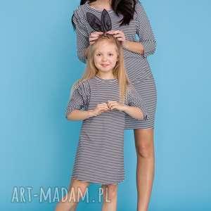 sukienki komplet dla mamy i córki - sukienka trzy falbanki, paski