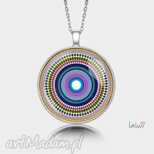 naszyjniki medalion okrągły love mandala, harmonia, serce, serca, miłość, grafika